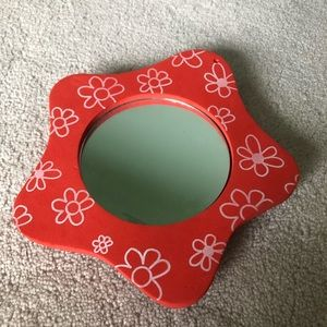 Bath - Foam Bath Mirror | Orange Flowers | Suction Cup